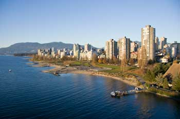 The Vancouver waterfront skyline