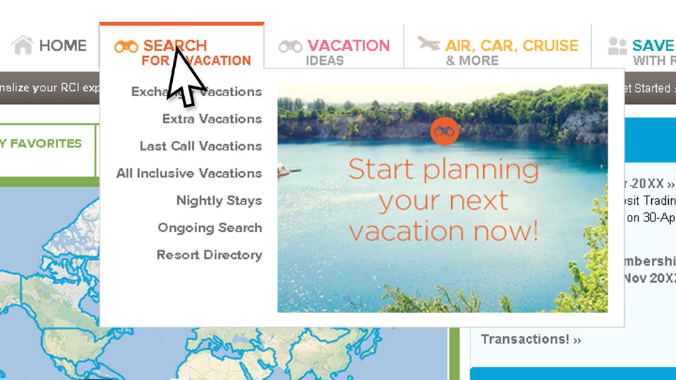 Searching for a Vacation